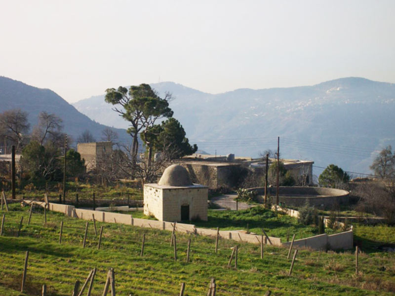 A Druze private cemetery, reserved mainly for religious sheikhs and those who had the honour to be buried in a place of worship. Shūf, Lebanon. Photo: Salma Samaha, 2008.