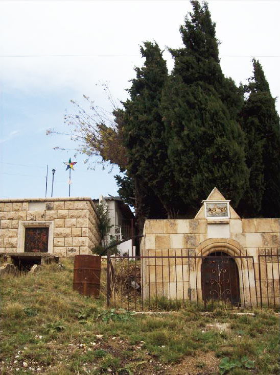 Cypress trees in the Druze cemeteries of Nīḥā, Lebanon, frequently occuring in both Druze and Christian cemeteries.  Photo: Salma Samaha, 2008.