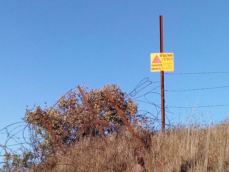 Divided by minefields and barbed wire: Druze settlement areas of the Golan Heights. Photo: Gebhard Fartacek, 2017.